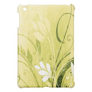 Grunge florale d'or étui iPad mini