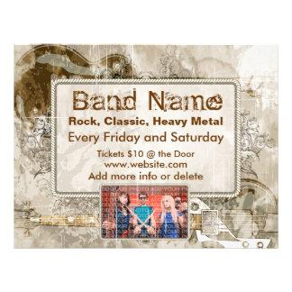 Grunge-Gitarren-Konzert-Flyer