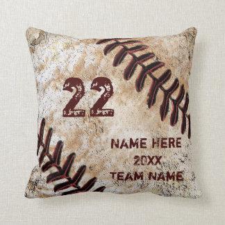 Grunge-personalisierte Baseball-Geschenke für Kissen