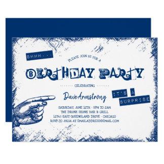Grunge-Überraschungs-Geburtstags-Party Shhh Karte