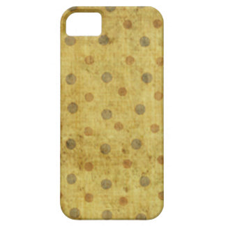 Grungy gelbes Tupfen-Muster iPhone 5 Case