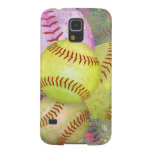Grungy Girly Softball Samsung Galaxy S5 Cover
