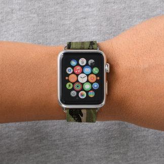 Grungy grüne Camouflage Apple Watch Armband