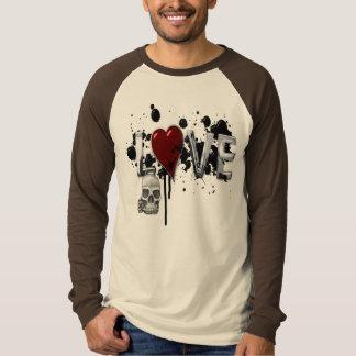 Grungy Liebe - grundlegender langer HülseRaglan T-Shirt