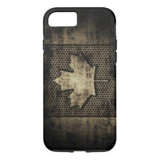 Grungy Metallkanadier-Flagge iPhone 8/7 Hülle