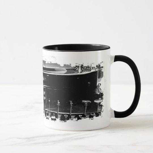 Grungy Schreibmaschinen-Tasse Tasse