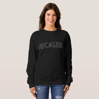 """Grungy schwarzes """"leichtsinniges"""" Sweatshirt"""