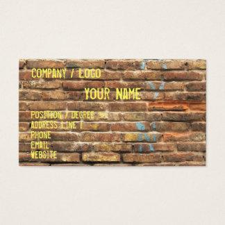 Grungy Wand-Visitenkarte Visitenkarte