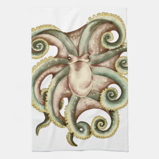 Grünliche Krake Handtuch