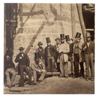 Gruppe Vorarbeiter, 1862 (Foto) Fliese