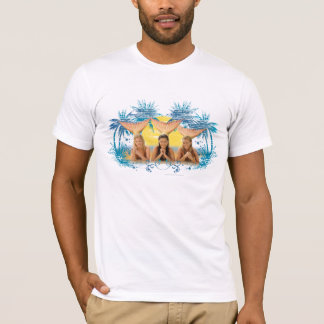 Gruppen-blaue Palme-Grafik T-Shirt