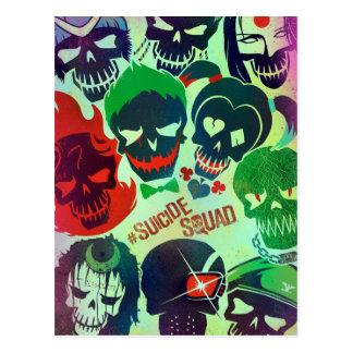 Gruppen-Wurf der Selbstmord-Gruppen-  Postkarte