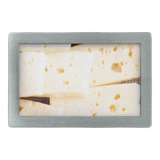 Gruppieren Sie trockenen harten gelben Käse der Rechteckige Gürtelschnallen