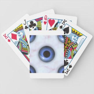 gruselige blaue Augen Bicycle Spielkarten