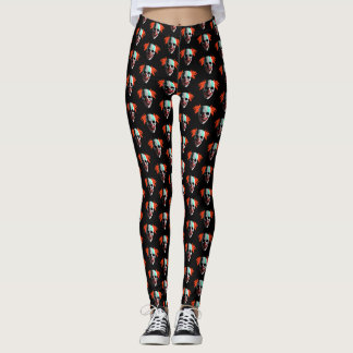 Gruselige Clown-Gamaschen Halloweens Leggings