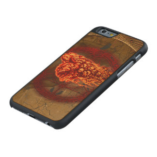 Gruselige Fliegenschädel Carved® iPhone 6 Hülle Ahorn