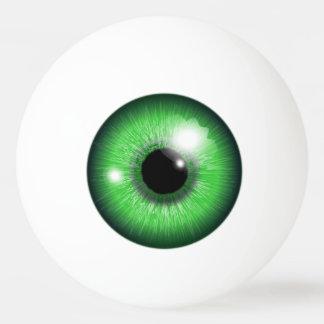 Gruselige grüne Augapfel-Iris-lustiger Tischtennis Ball
