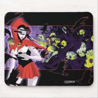 Gruselige Rotkäppchen-Mädchen-Dunkelheit gejagte Mauspad
