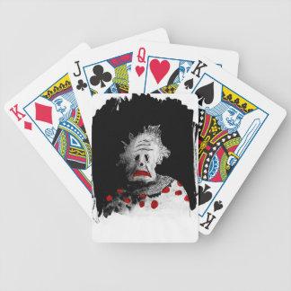Gruseliger Clown Bicycle Spielkarten