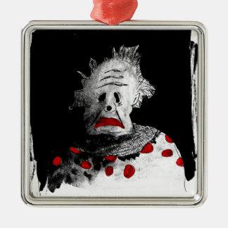 Gruseliger Clown Silbernes Ornament