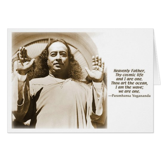 Gruß-/Anmerkungskarte. Bestätigung durch Yogananda Grußkarte