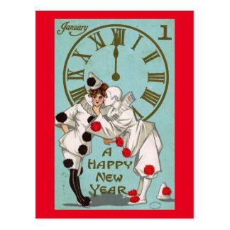 Gruß des neuen Jahres TagesVintag Postkarte