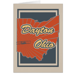 Gruß-Karte Daytons, Ohio - Reise-Druck Karte