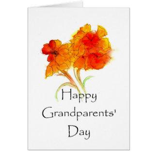 GRUSS-Karte der Großeltern Blumentages Grußkarte