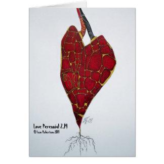 Gruß-Karte der Liebe-Pflanzen-2,14 Karte