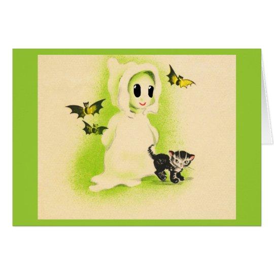 Gruß Karte-Feiertag Kunst-Vintages Halloween 10 Grußkarte