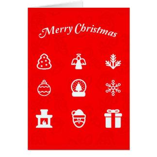 Gruß Karte-Feiertag Kunst-Weihnachten 117 Mitteilungskarte