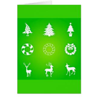 Gruß Karte-Feiertag Kunst-Weihnachten 118 Mitteilungskarte