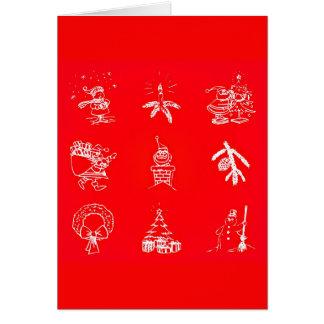 Gruß Karte-Feiertag Kunst-Weihnachten 119 Mitteilungskarte