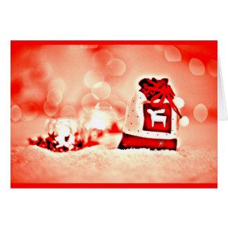 Gruß Karte-Feiertag Kunst-Weihnachten 124 Mitteilungskarte