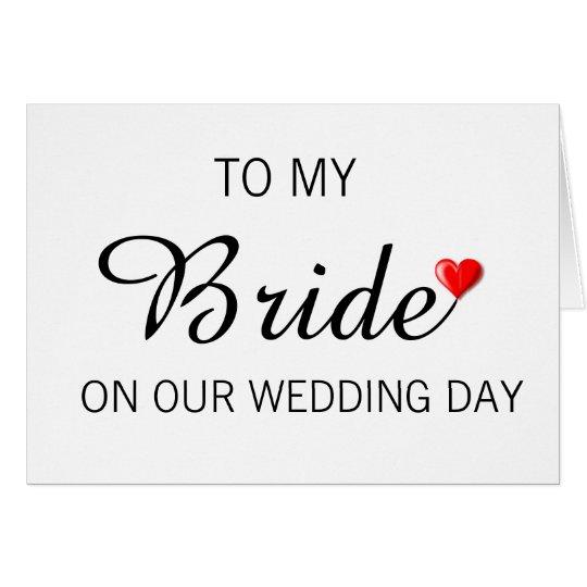 Gruß-Karte für Braut am Hochzeitstag Karte