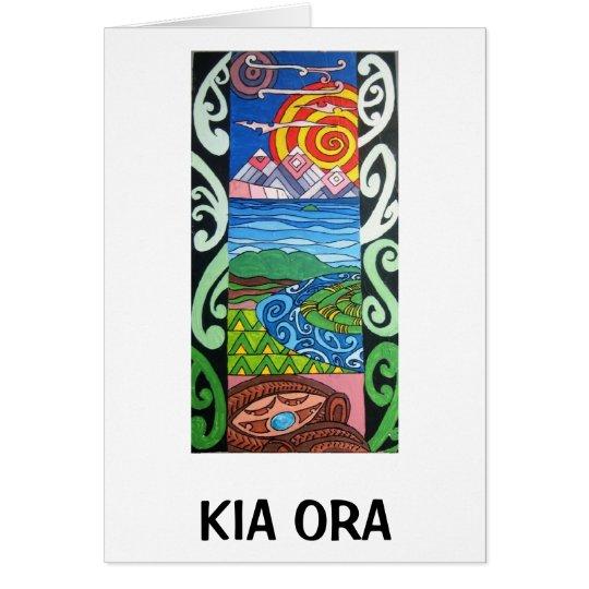 Gruß-Karte - NZ- Kiaora - Arohanui Grußkarte
