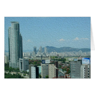 Gruß-Karte - Seoul, Südkorea Karte