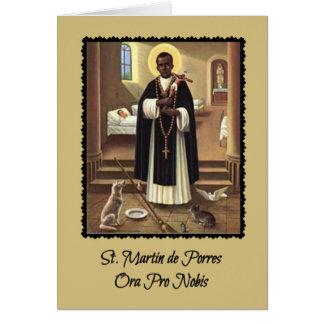 Gruß-Karte St Martin de Porres mit Gebet Karte