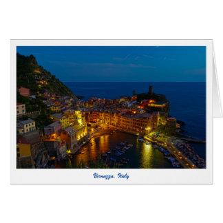 Gruß-Karte - Vernazza, Italien an der Dämmerung Karte