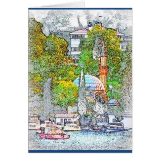 Gruß-Karte von Bebek Bucht, Istanbul Karte