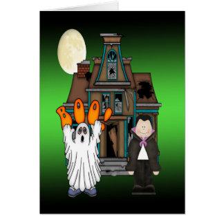 Gruß-Karten Boo-Geist-Draculas Halloween Grußkarte