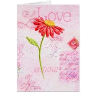 Gruß-Karten-Liebe des Valentines Tagesbeschriftet Grußkarte