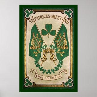 Gruß-Plakat St. Patricks Tages Poster