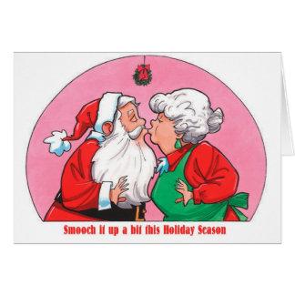 Gruß Sankt-Frau-Klaus Kissing Smooch Holiday Karte