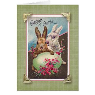 Grüße an Vintager Wiedergabe Ostern Karte