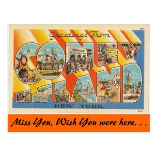 Grüße von Coney Island Postkarte