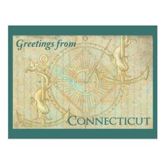 Grüße von Connecticut Postkarte