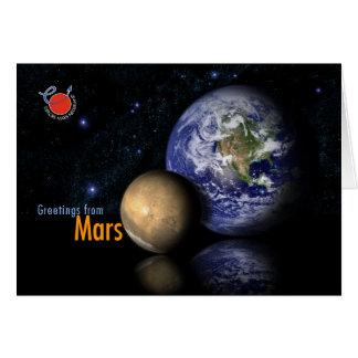 Grüße von den Mars Karte