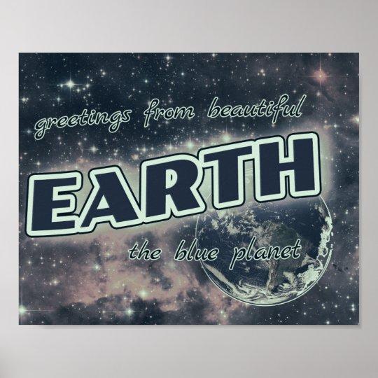 Grüße von der Erde Poster