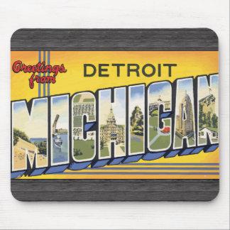 Grüße von Detroit Michigan, Vintag Mauspads